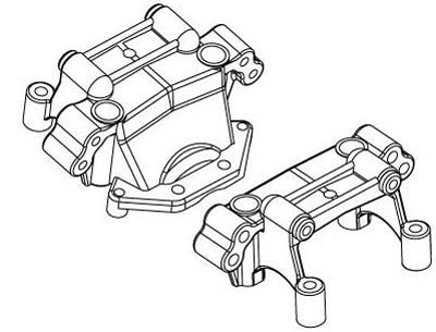 Image Of BSD EP8 Upper Suspension Arm Mounts