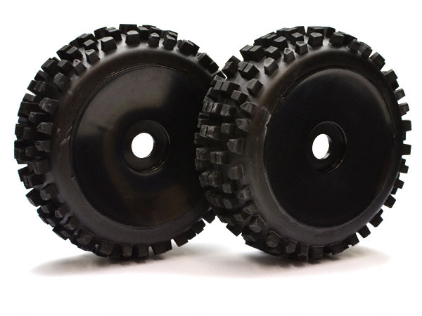 Nanda Racing 1:8th Nanda Block Tyres On Black Dish Wheels x 2 BW1904