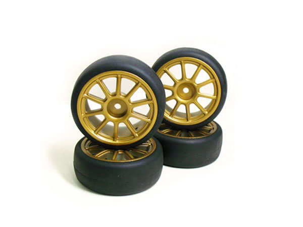 Carisma M40S Glued Wheel/Tyre Set (Subaru Style) CA14118