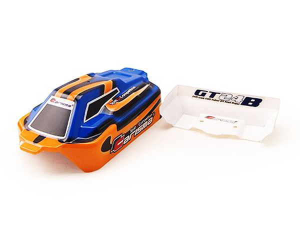 Carisma GT24B Painted and Decorated Bodyshell - Blue and Orange CA15380