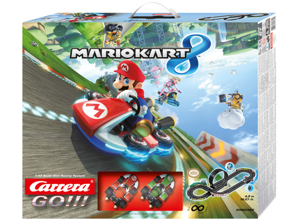 Image Of Carrera Nintendo Mario Kart 8 4.9m Slot Set (Mario and Luigi)