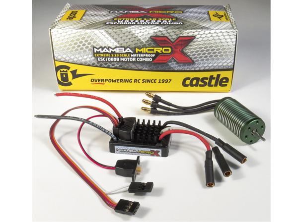 Castle Mamba Micro X 1:18th Car ESC with 5300kv Motor CC010-0147-02