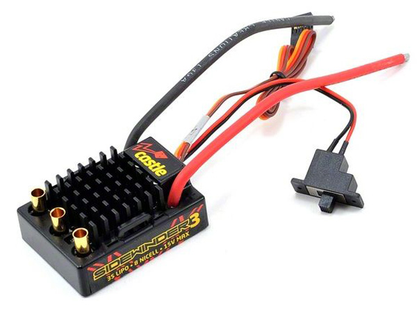 Image Of Castle SV3 Sidewinder Waterproof 1/10th ESC