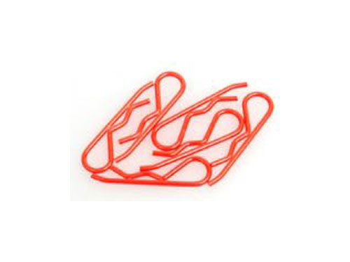 Core RC 1:8th Body Clips - Fluorescent Red CR095