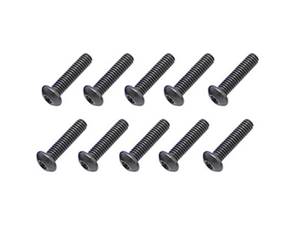 Image Of Core RC Steel Button Head Hex Screws 3x12mm (10)