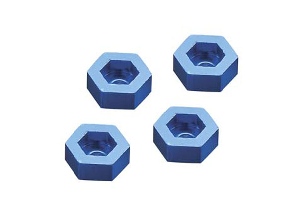 Dromida Hex Adapter 12mm, Aluminum Blue (4) DIDC1144