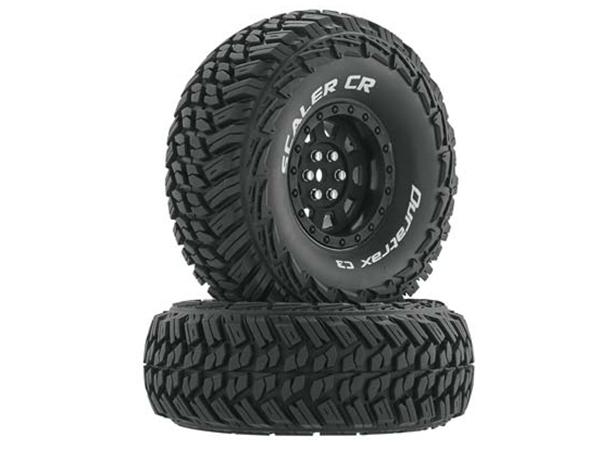 Duratrax 1.9 Scaler CR Tyres Mounted on Black Chrome Wheels (2) 1/10 DTXC4023