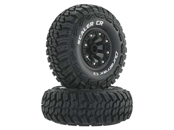 Duratrax 2.2 Scaler CR Tyres Mounted on Black Wheels (2) 1/10 DTXC4038