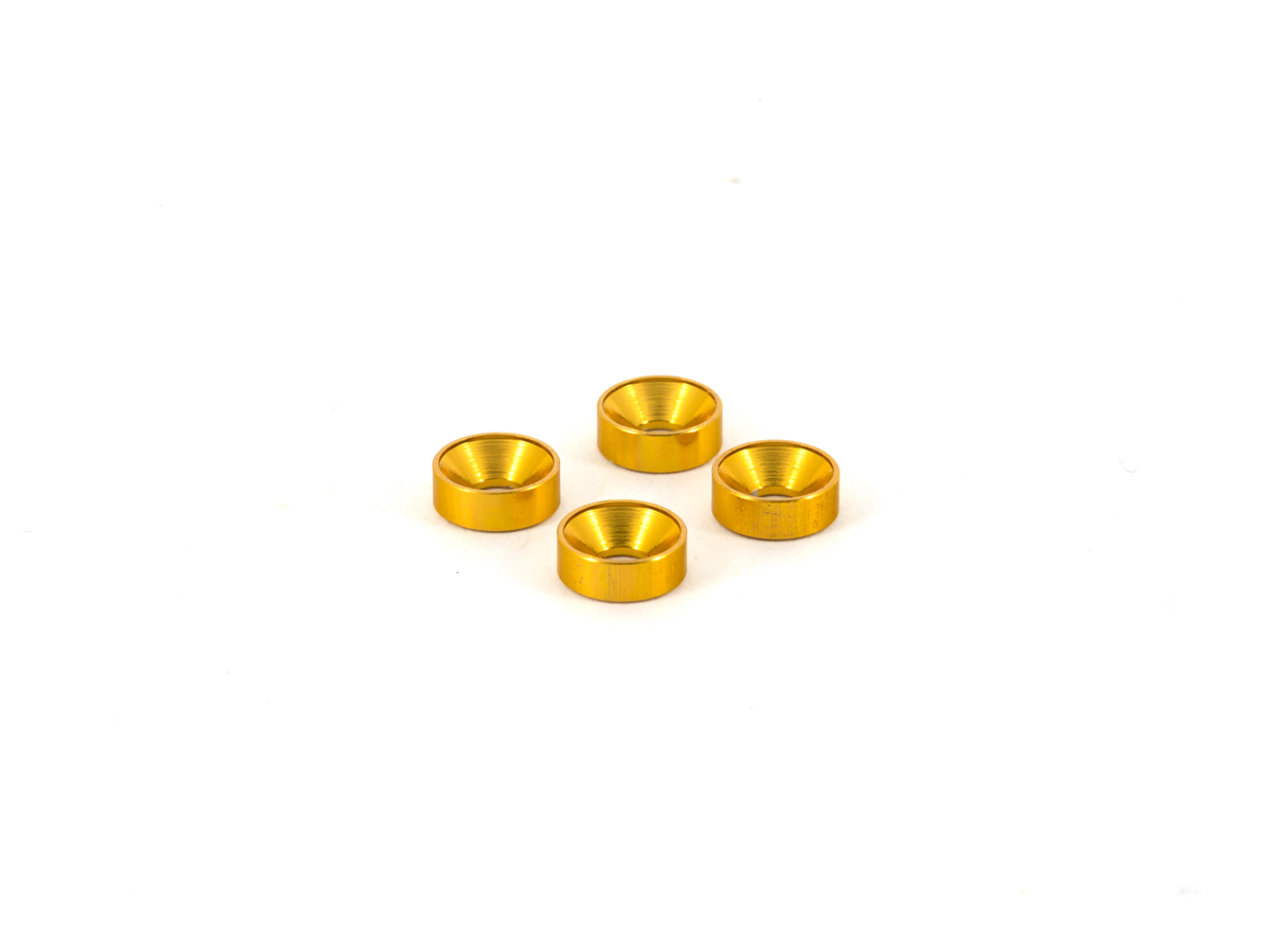 Team Durango Aluminium Countersink Washer M3 (gold, 4pcs) TD709069