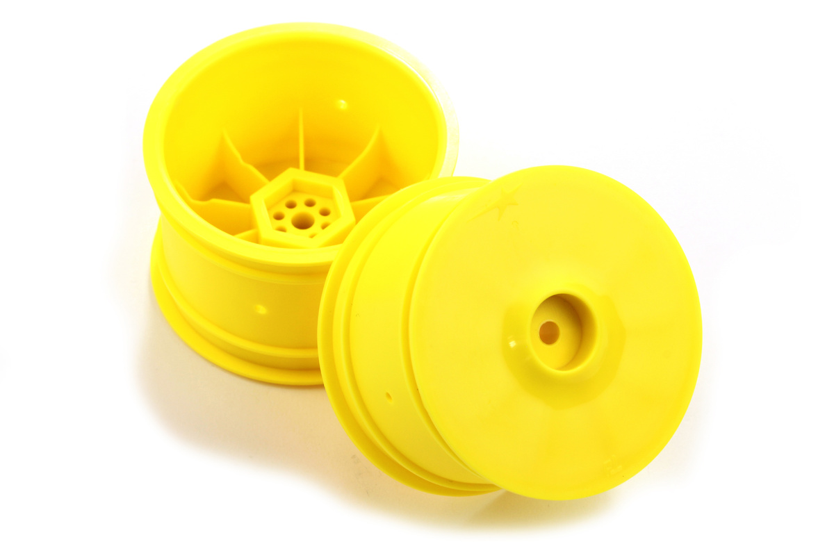 Team Durango Wheel Rim Rear: 14mm Hex Yellow (2pcs) TD510017