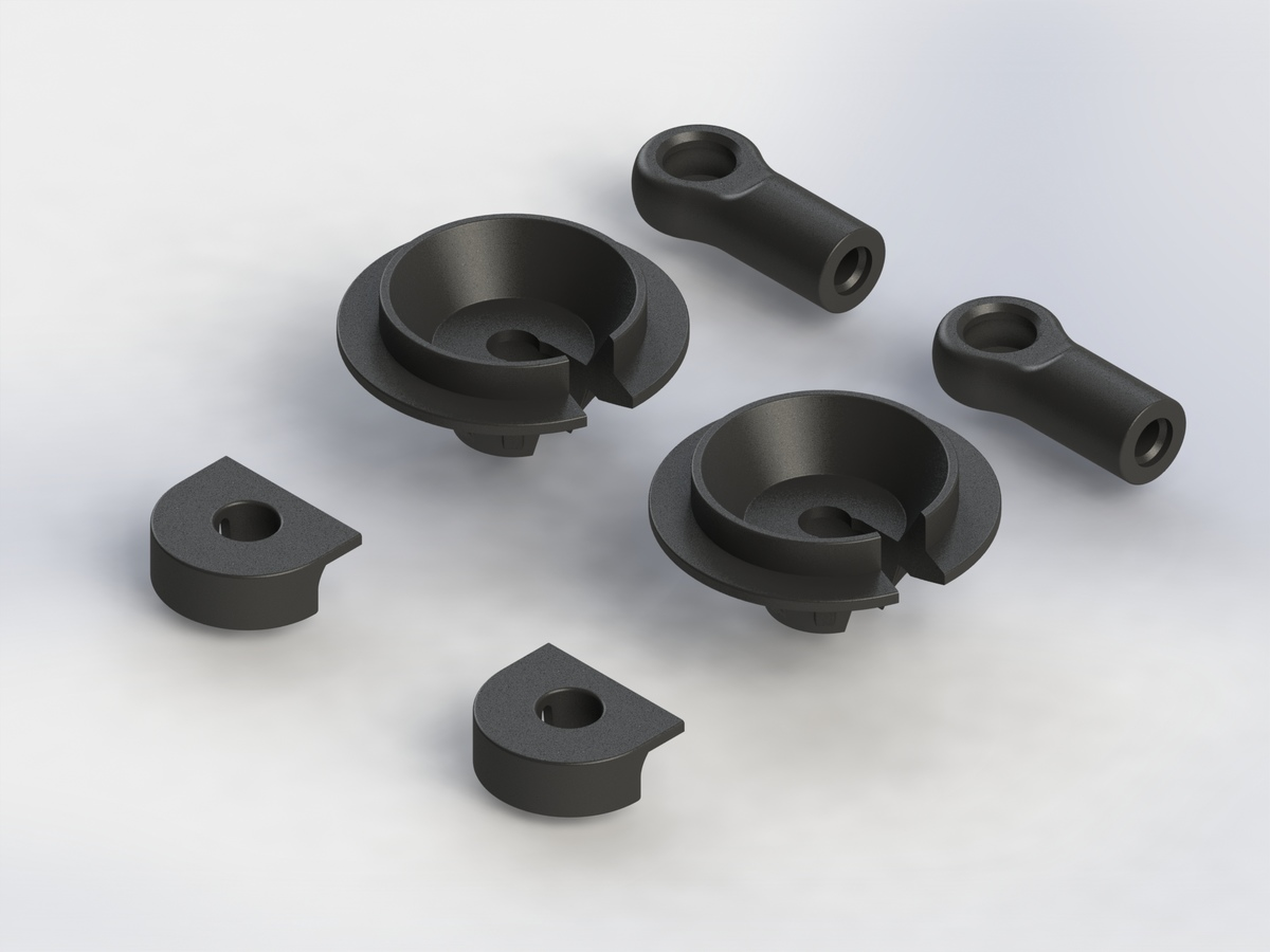 Team Durango Composite Shock Parts Set TD330703