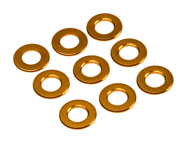 Team Durango Aluminium Spacer 6x3x0.50mm (10pcs)(gold) TD709007