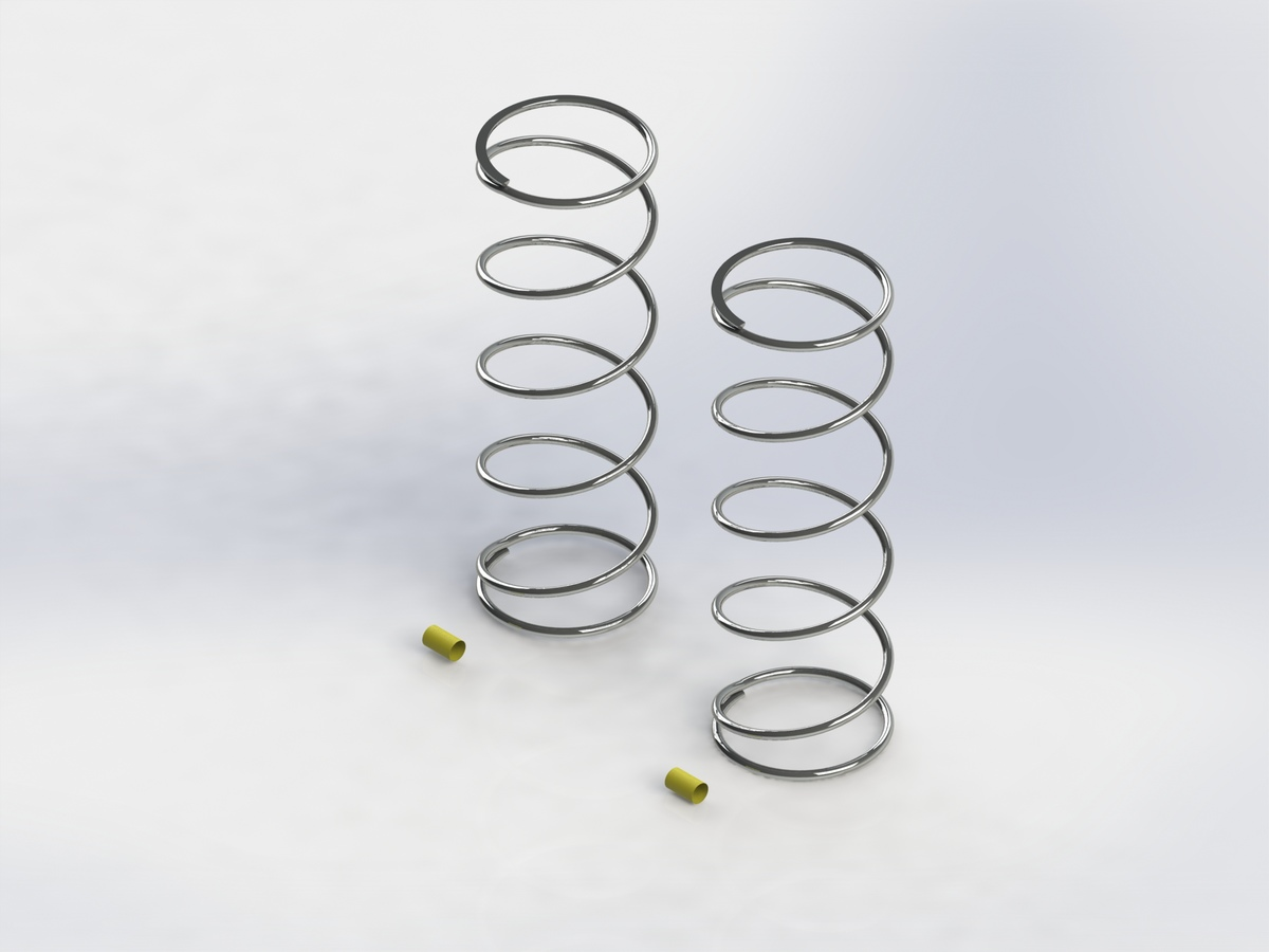 Team Durango Shock Spring 75mm Yellow (80 Gf/mm)(2pcs) TD330815