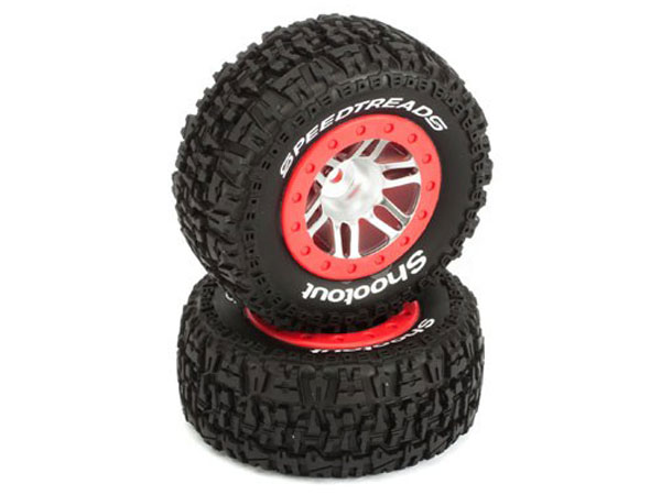 Dynamite Traxxas Slash 4x4 Front and Rear Mounted Speedtreads Shootout SCT Tyres(2) DYN5126