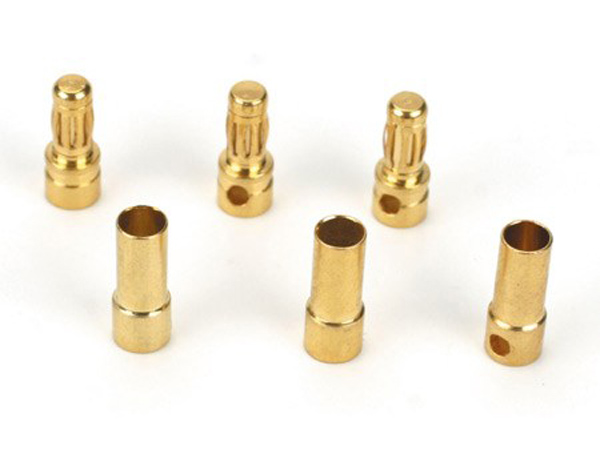 Dynamite Gold Bullet Connector Set 3.5mm (3) DYNC0043