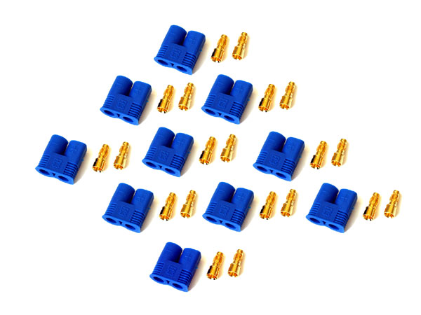Modelsport UK Pack of 10 Male EC3 Connectors EC310PM