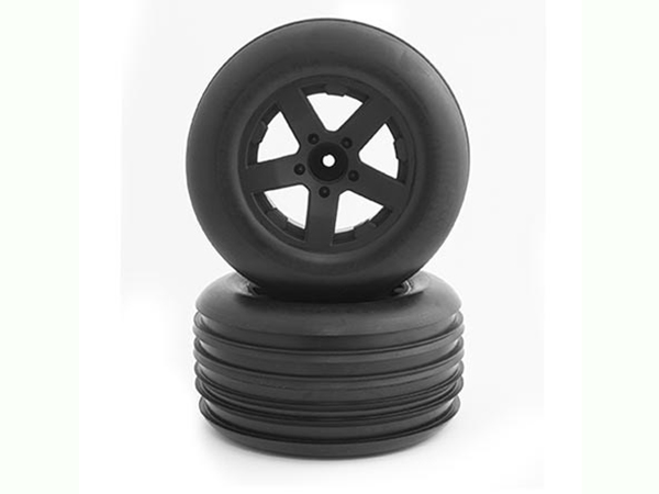 ECX Circuit Premont Black Rear Wheel & Tyres (2) ECX43006