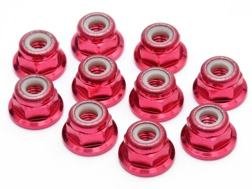 Image Of Edit M3 Flanged Nut(red)(10pcs)