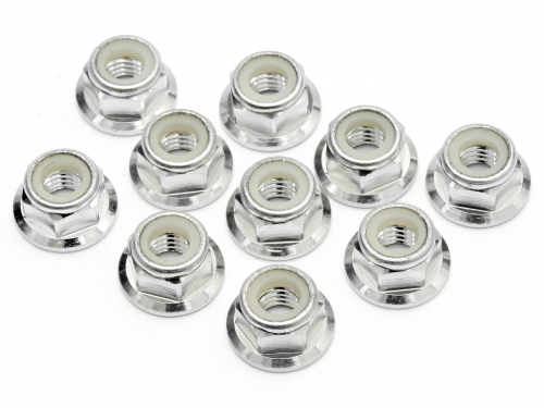 Image Of Edit M5 Flanged Nut(silver)(10pcs)