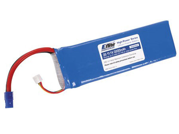 E-Flite 3200Mah 3S 11.1volt 20C LiPo 13Gauge with EC3 Connectors EFLB32003S