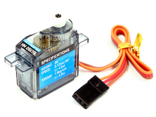 Etronix 9G 1.6Kg/ 0.12s Micro Servo with Half Metal Gears Digital ET0005HMD