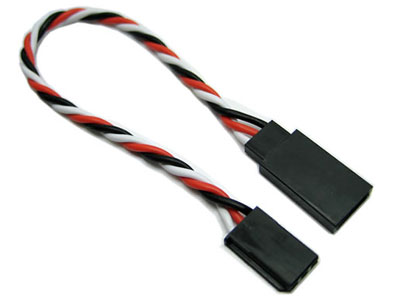 Image Of Etronix 22AWG Futaba Twisted Extension Wire - 7cm