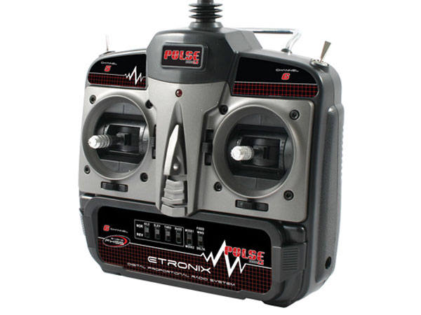 Etronix Pulse 2.0 X6 2.4Ghz FHSS 6-Channel Radio System - Mode 2 ET1127
