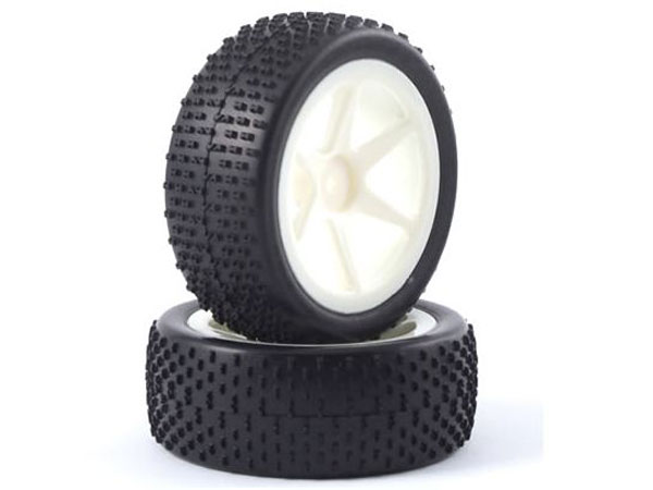 Fastrax H Pattern 1/10th Off-Road Buggy Pre-Mounted Front Tyres on 6 Spoke Wheels (2) FAST0042S