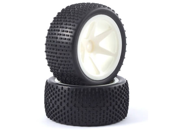 Fastrax H Pattern 1/10th Off-Road Buggy Pre-Mounted Rear Tyres on 6 Spoke Wheels (2) FAST0043S