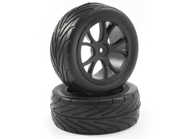 Fastrax FAST0048-1//10th Mounted Buggy Tyres Lp Arrow Front