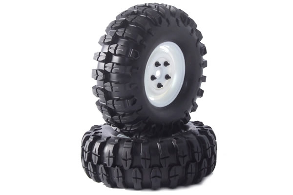 Fastrax Snake 1.9 Crawler Tyres on Scale Wheels (2) - Black FAST0061B