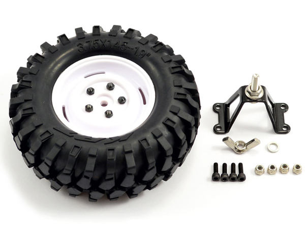 Fastrax Kong Crawler Spare Tyre 1.9'' Scale Wheel - White FAST0063WST