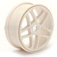 Fastrax  Split Spoke 1:8th Buggy Wheels (White) FAST0132