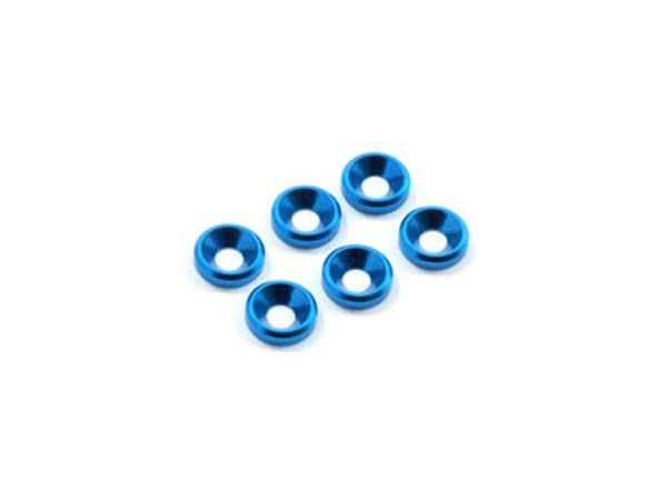 Fastrax M3 Countersunk Washer - Blue FAST140