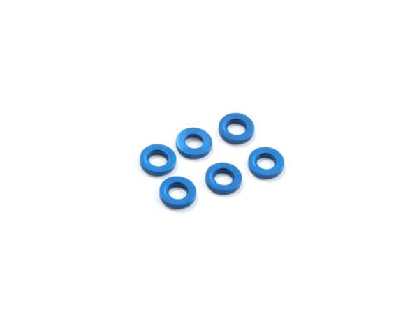 Fastrax M3 Flat Washer Blue - 0.5mm FAST142-1