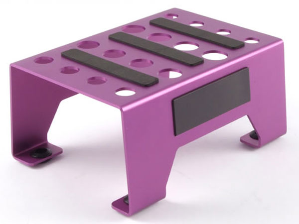 Fastrax Aluminium Pit Stand with Magnetic Strip - Purple FAST410P