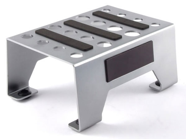 Fastrax Aluminium Pit Stand with Magnetic Strip - Silver FAST410S