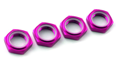 Image Of Fastrax 17 x 1.25mm Nyloc Wheel Nuts - Purple(4)
