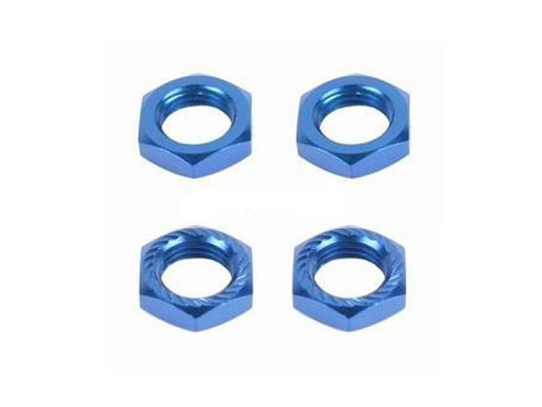 Image Of Fastrax 17 x 1.25mm Serrated Wheel Nuts - Blue(4)
