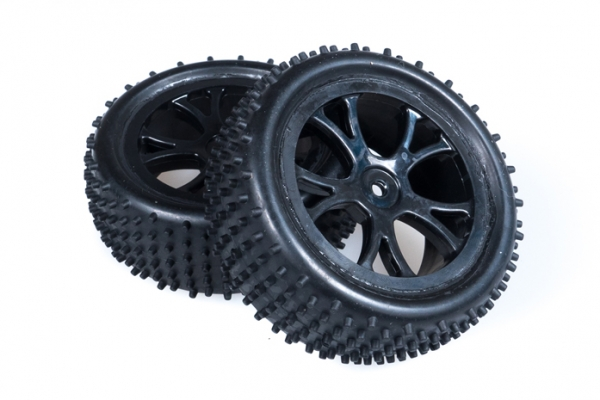 FTX Front Buggy Wheel and Tyre Set Black - Vantage FTX6300B