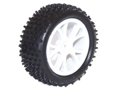 FTX Front Buggy Wheel And Tyre Set White - Vantage FTX6300W