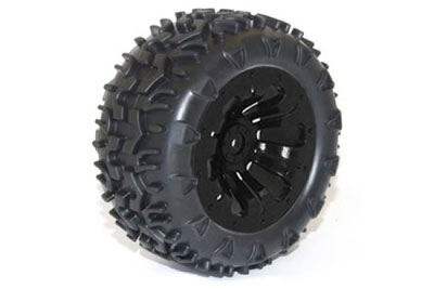 FTX Carnage Mounted Wheels/Tyres - Black (2) FTX6310B