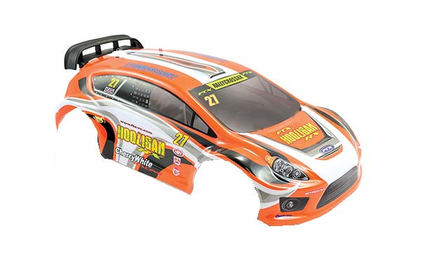 Image Of FTX Hooligan Orange Body w/ Decals and Wing