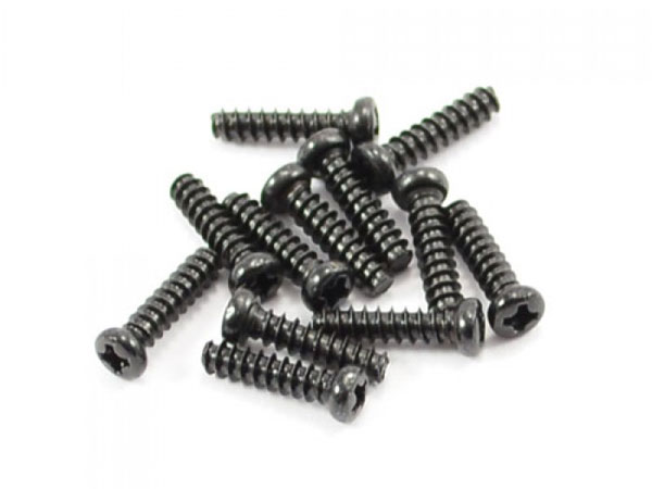 FTX Round Head Self Tapping Screw 2.6x10mm (12) FTX7288