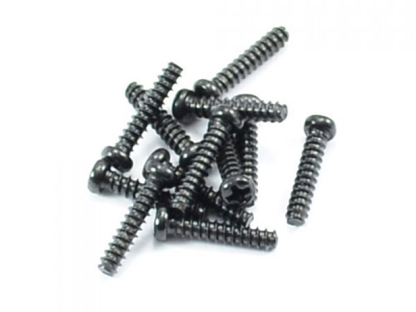 FTX Round Head Self Tapping Screws 2.6x12mm (12) FTX7295