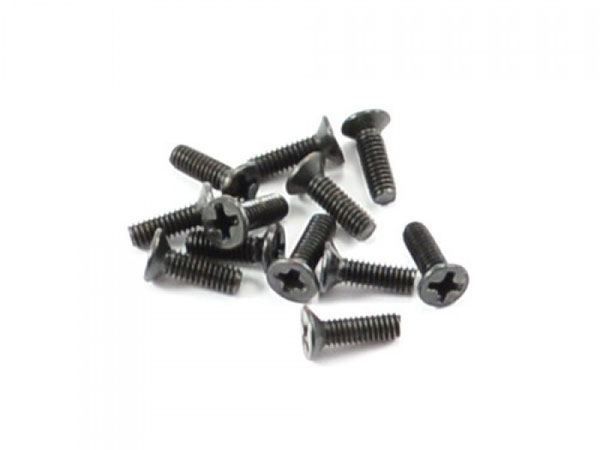 FTX Countersunk Screw 2.5x8mm (12) FTX7302