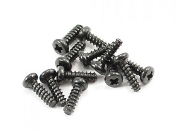 FTX Round Head Self Tapping Screw 2.6x8mm (12) FTX7305