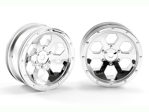 FTX Outback 6 Hex Wheel (2) - Chrome FTX8168C