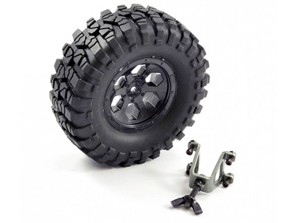FTX Outback Spare Tyre Mount and Tyre FTX8249