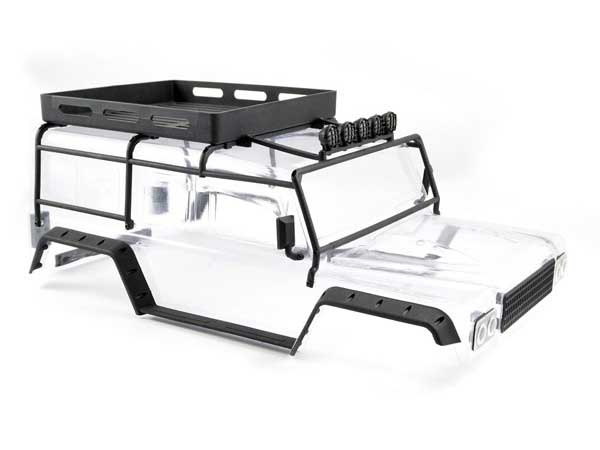 FTX Kanyon Clear Bodyshell with Roll Cage, Spotlights and Tray FTX8488